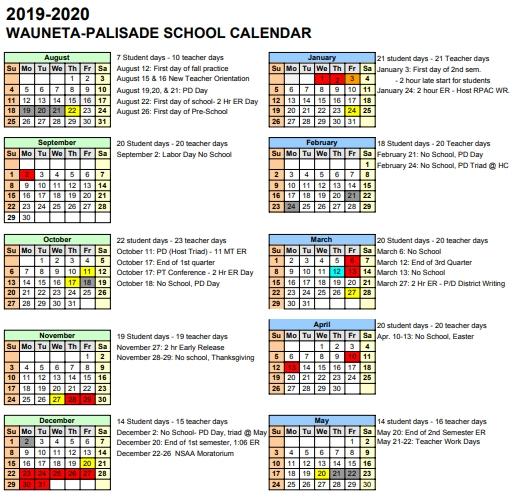 28 Day Expiration Calendar 2020
