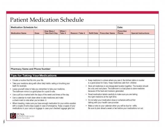 28 Days Medication Calendar 2020 | Printable Calendar Template 2020