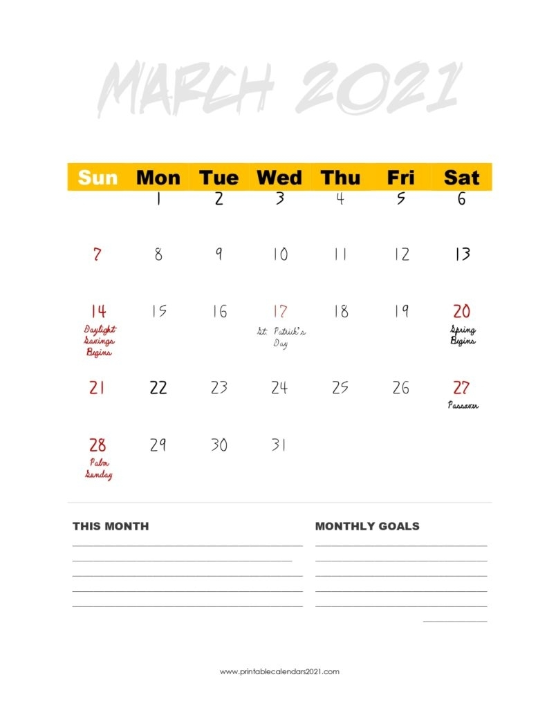 35+ 2021 Calendar Printable Pdf, Monthly With Holidays And Planner