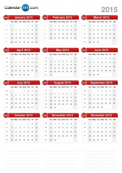 365 Day Julian Calendar | Printable Calendar Template 2020