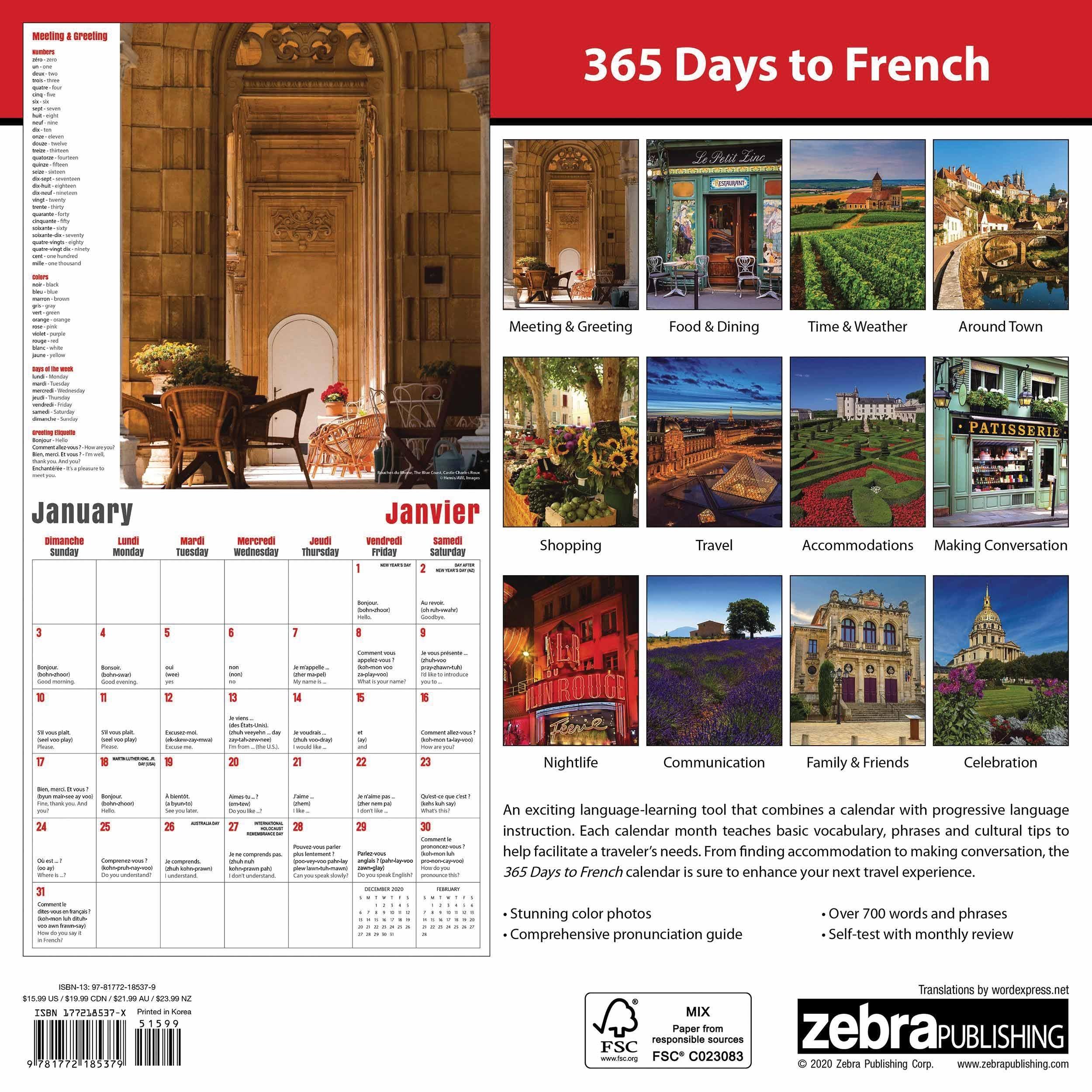 365 Days To French Calendar 2021 At Calendar Club