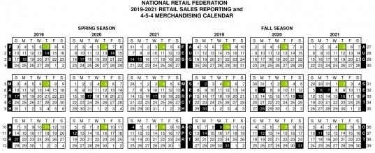 4-4-5 Calendar | Printable Calendar Template 2021