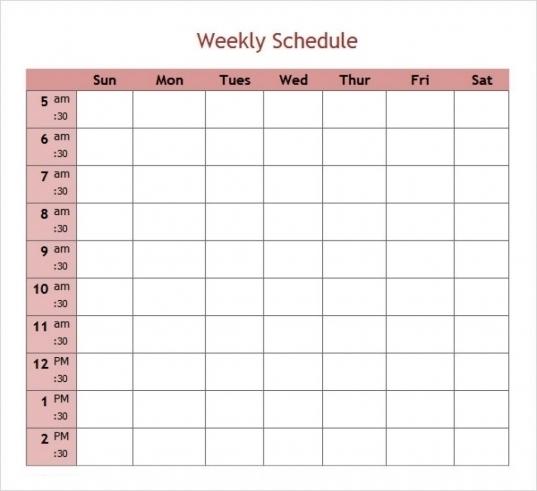 5 Day Planner Template | Printable Calendar Template 2020