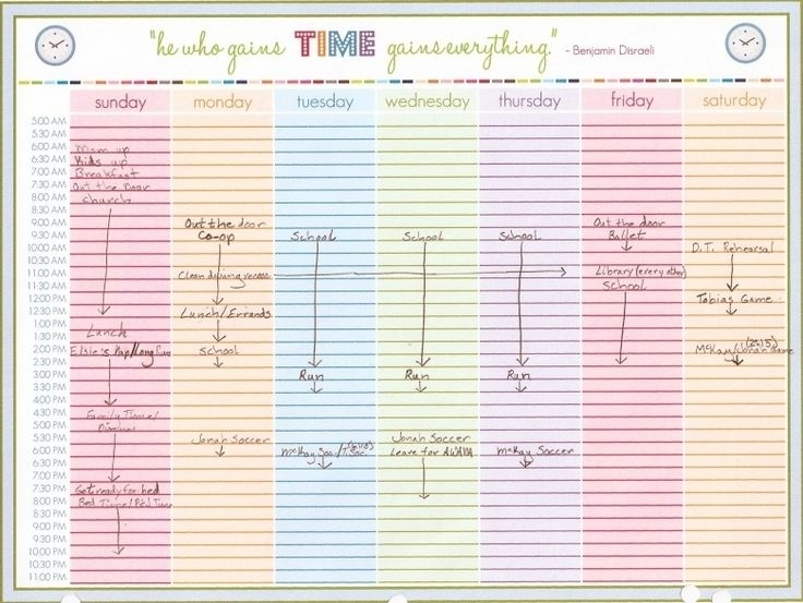 6 Best Images Of Printable Daily Calendar With Time Slots | Weekly Schedule Printable, Calendar