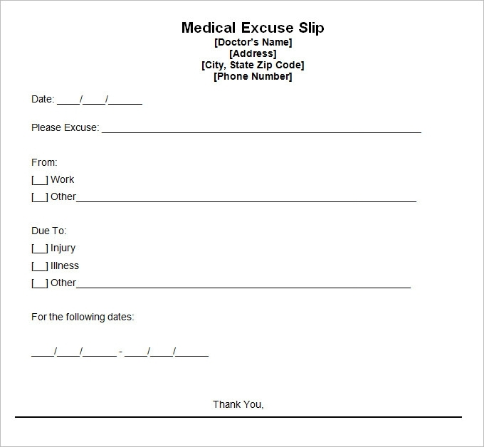 9 Best Free Doctors Note Templates For Work | Every Last Template | Free Download