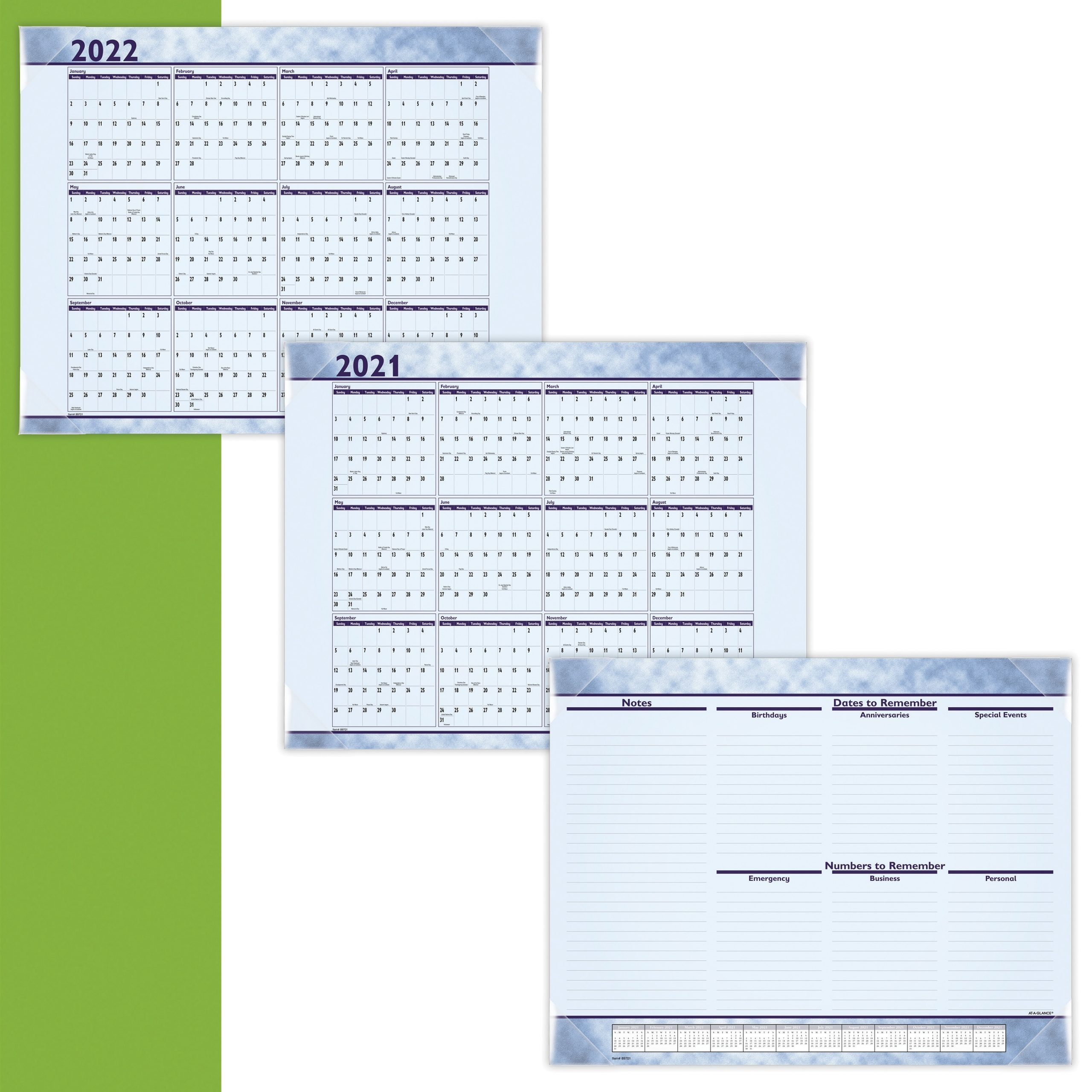 At-A-Glance Monthly Desk Pad - Julian Dates - Monthly - 1 Year - January 2021 Till December 2021