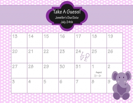 Baby Due Date Calendar Template | Printable Calendar Template 2020