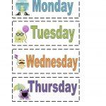 Printable Days Of The Week