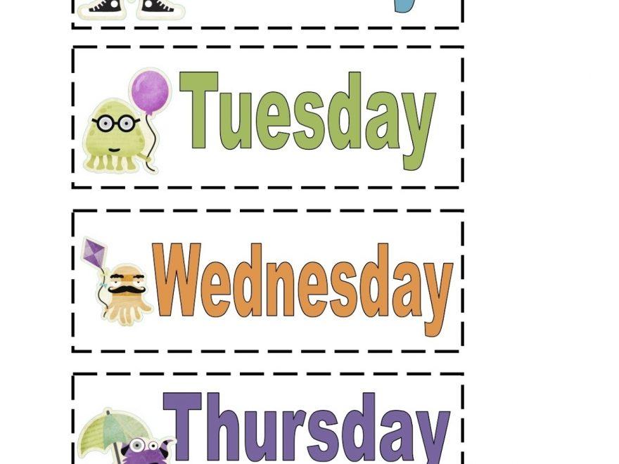 Best Of Preschool Days Of The Week | Fun Worksheet