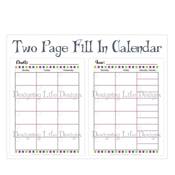 Bi Monthly Calendar Printable | Printable Calendar Template 2020