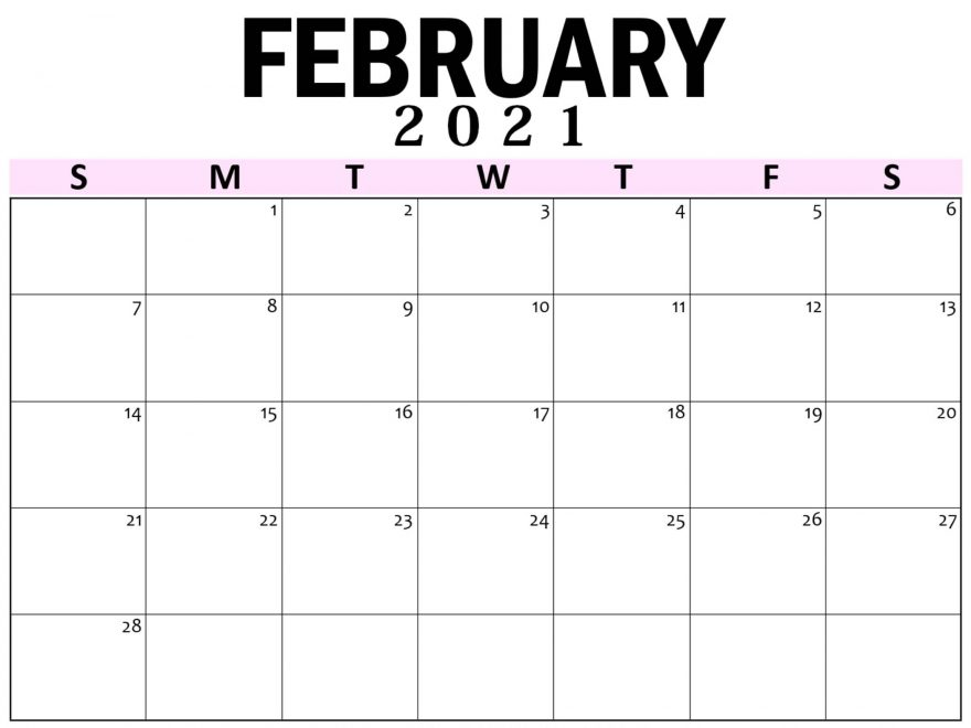 Blank Calendar 2021 February Printable Paper Sheets - One Platform For Digital Solutions Blank