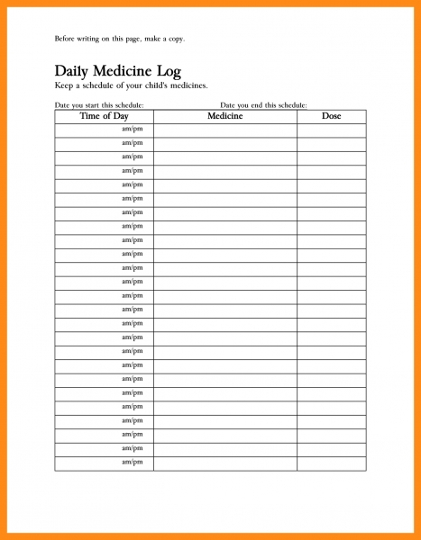 Blank Medicine Calendar Am And Pm | Printable Calendar Template 2020