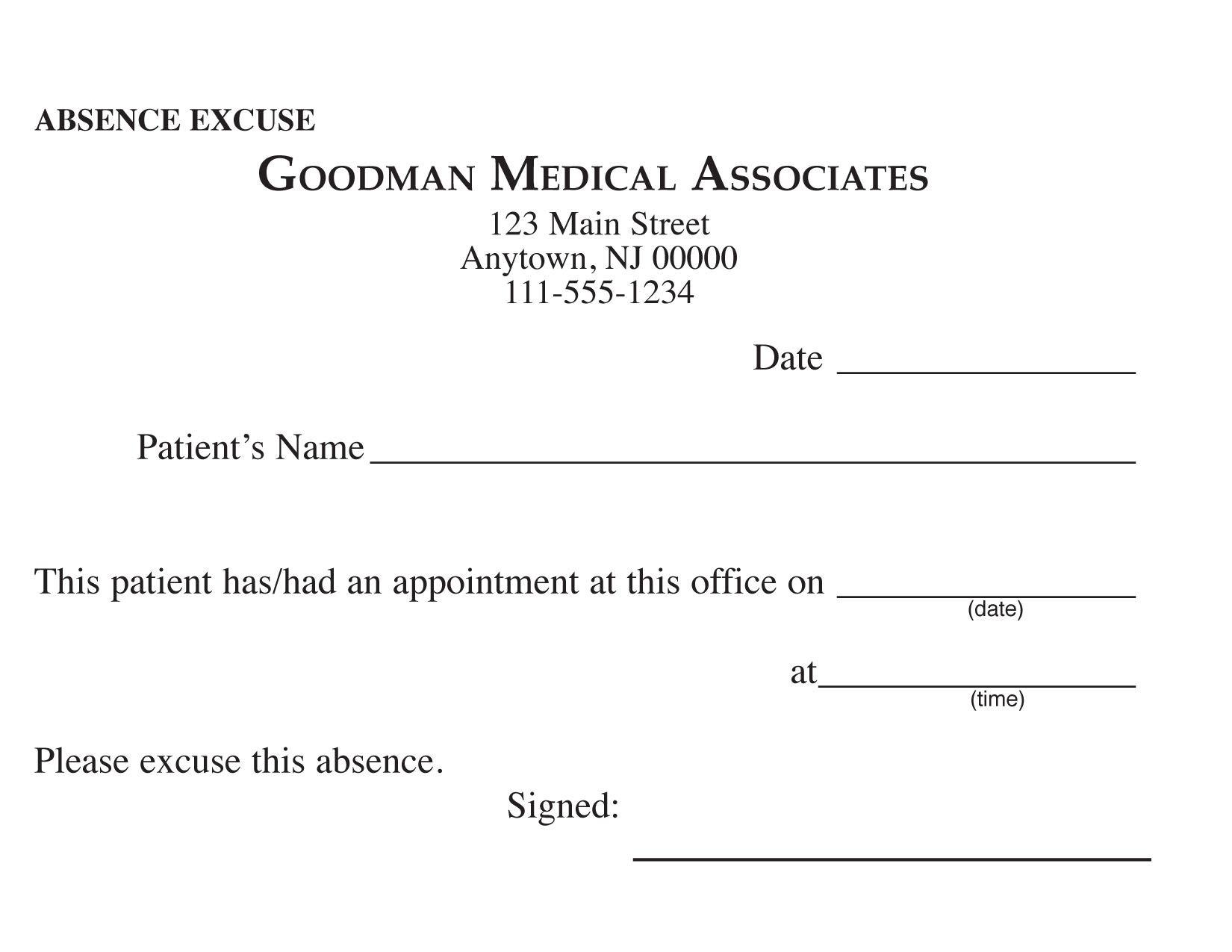 Blank Printable Doctor Excuse Form | Keskes Printing - Mds | Doctors Note, Doctors Note Template