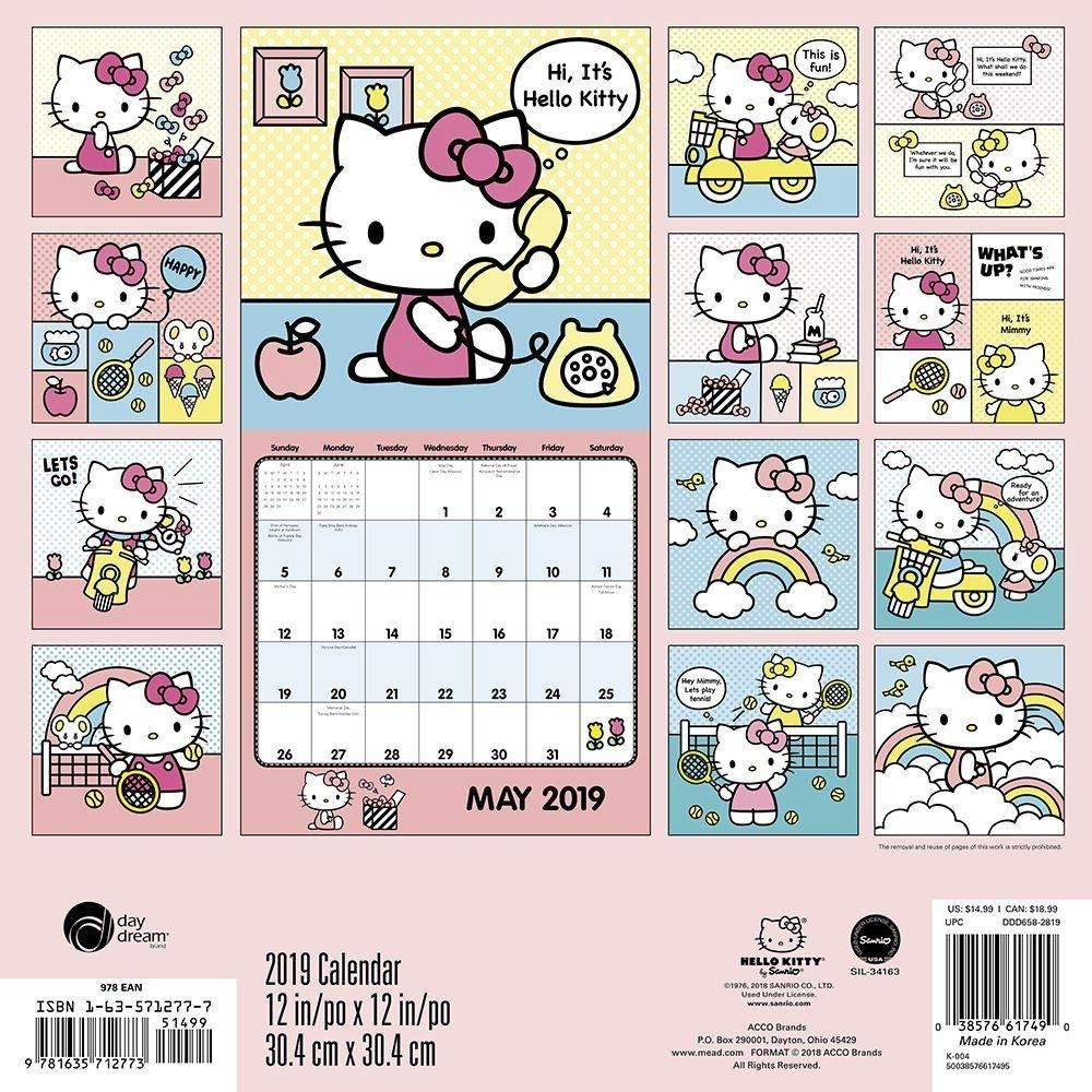 Calendar 2020 Hello Kitty | Calendar Printables Free Templates