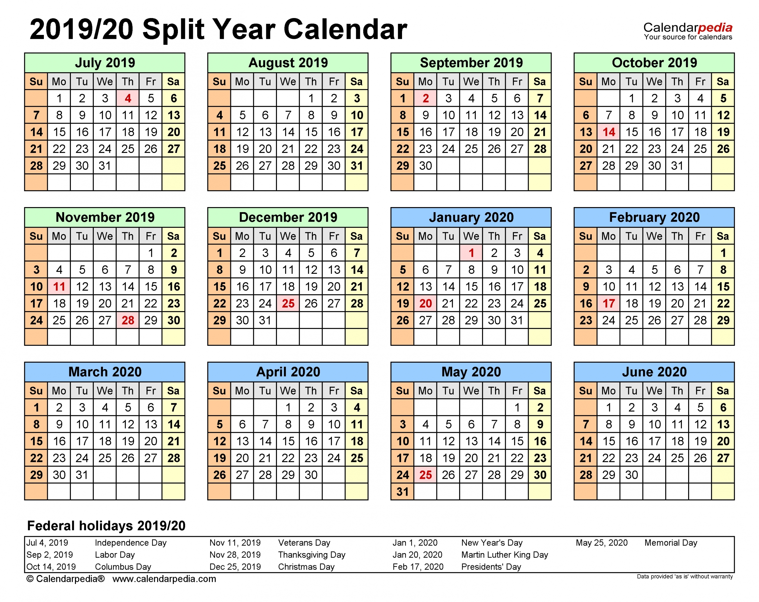 Calendar 2021 Free Printable - Template Calendar Design