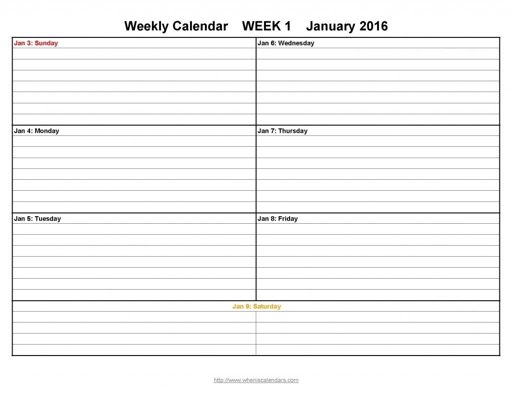 Calendar Week With Times | Ten Free Printable Calendar 2020-2021