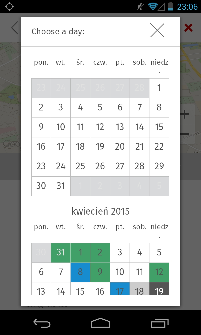 Calendarview - Android Custom Calendar View Disable Specific Dates - Stack Overflow