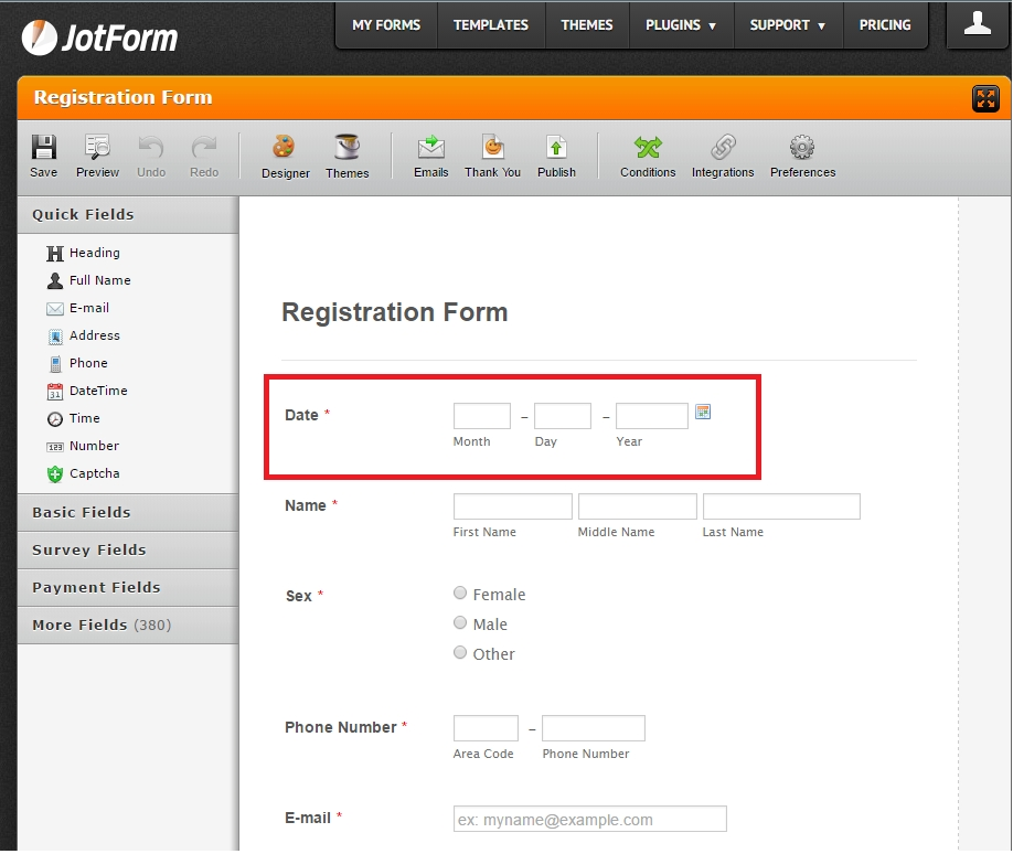 Can I Pre-Fill The Date Field In My Form With Today'S Date?   Jotform