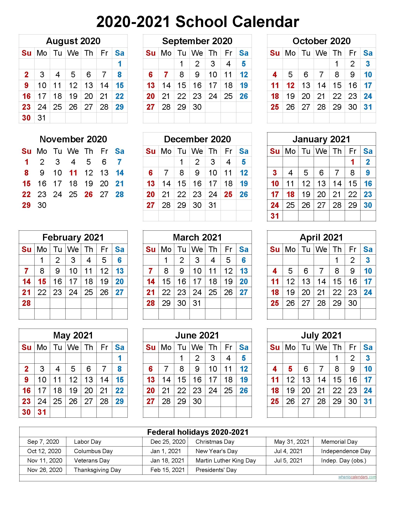 Catch Free Printable Calendar 2020 2020 & 2021 | Calendar Printables Free Blank