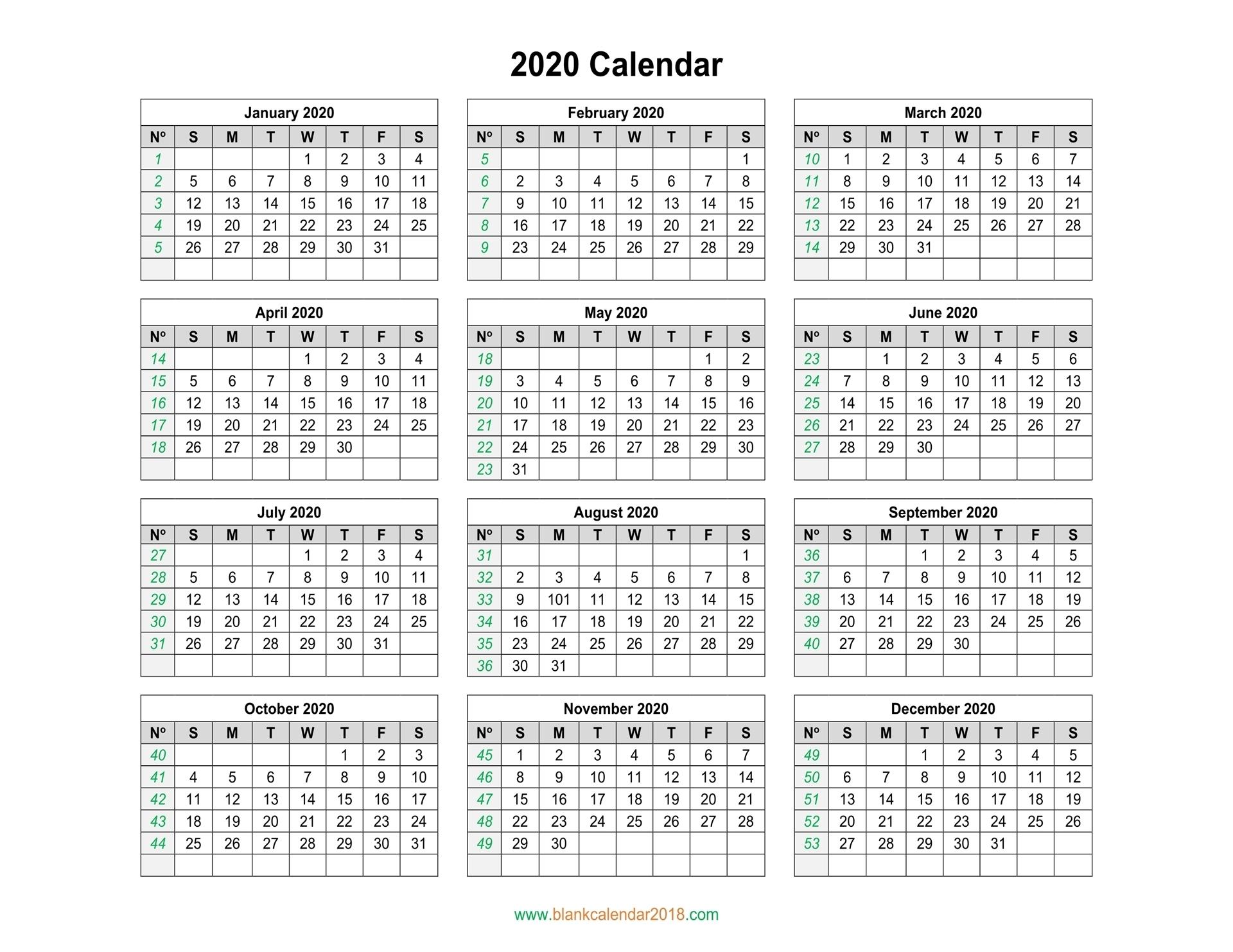 Catch Yearly Printable Calendar 2020 | Calendar Printables Free Blank