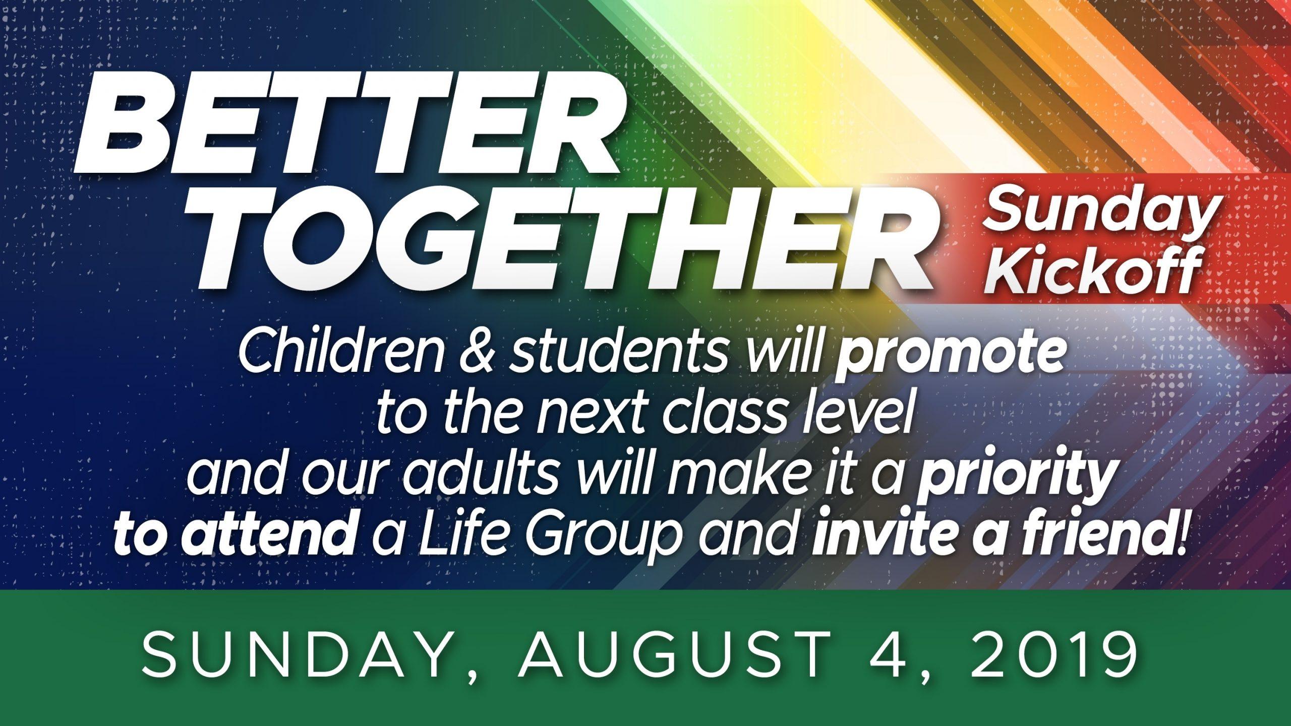 Central Baptist Church: Warner Robins, Ga > Better Together Sunday Kickoff!