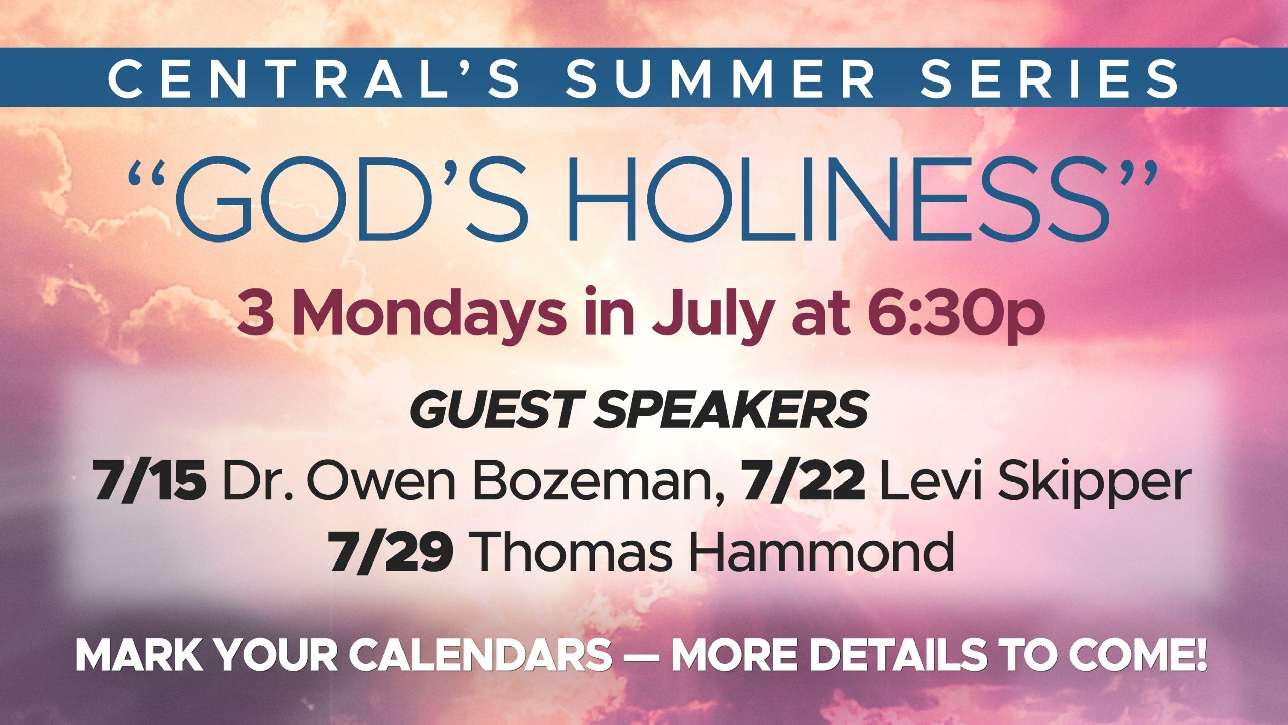 Central Baptist Church: Warner Robins, Ga > Central'S 2019 Summer Worship Series