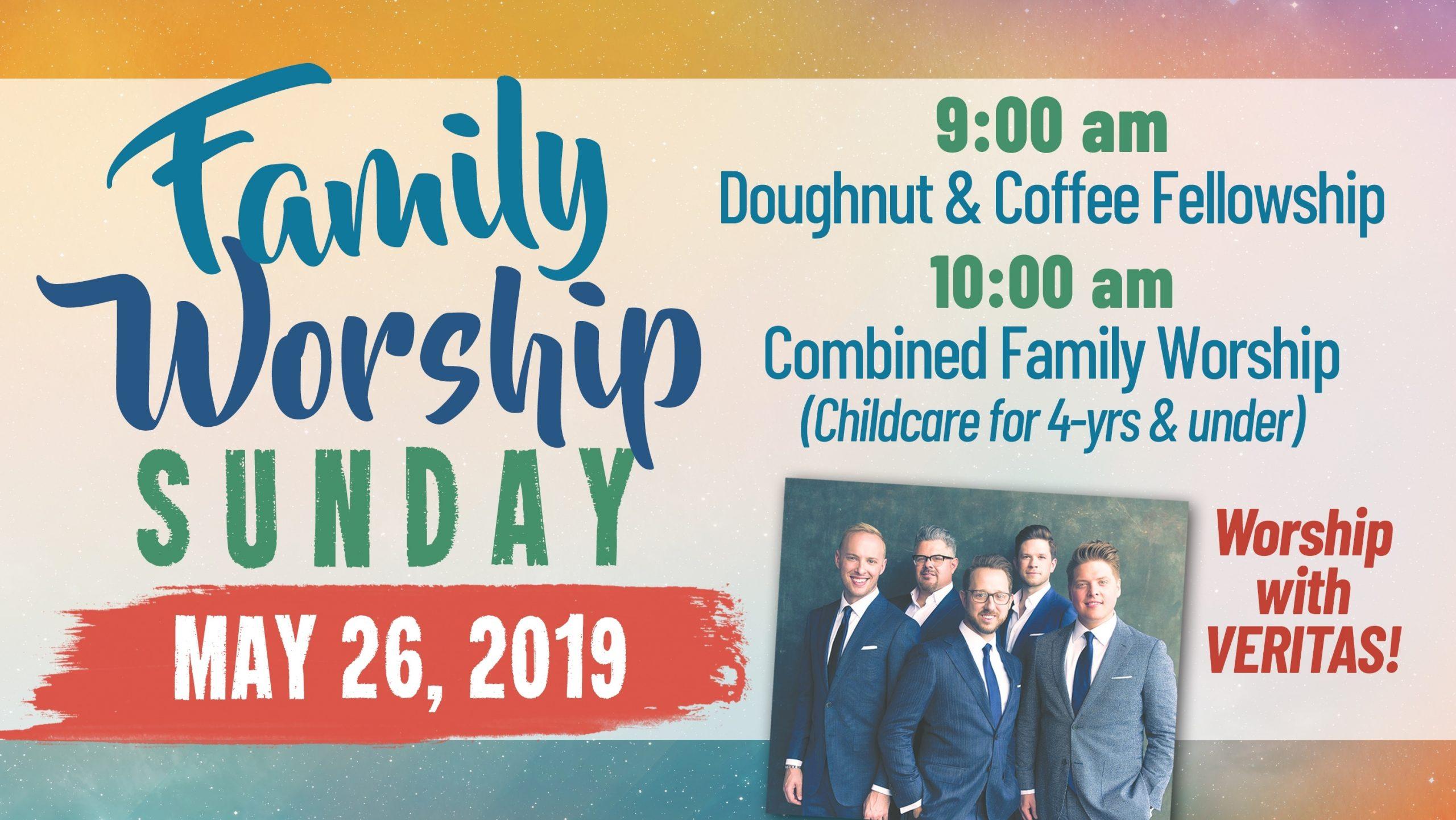 Central Baptist Church: Warner Robins, Ga > Family Worship Sunday Featuring Veritas @ Cbc
