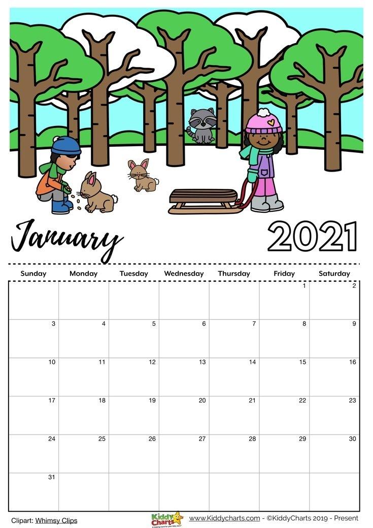 Check Our New Free Printable 2021 Calendar! In 2020 | 2021 Calendar, Coloring Calendar, Kids