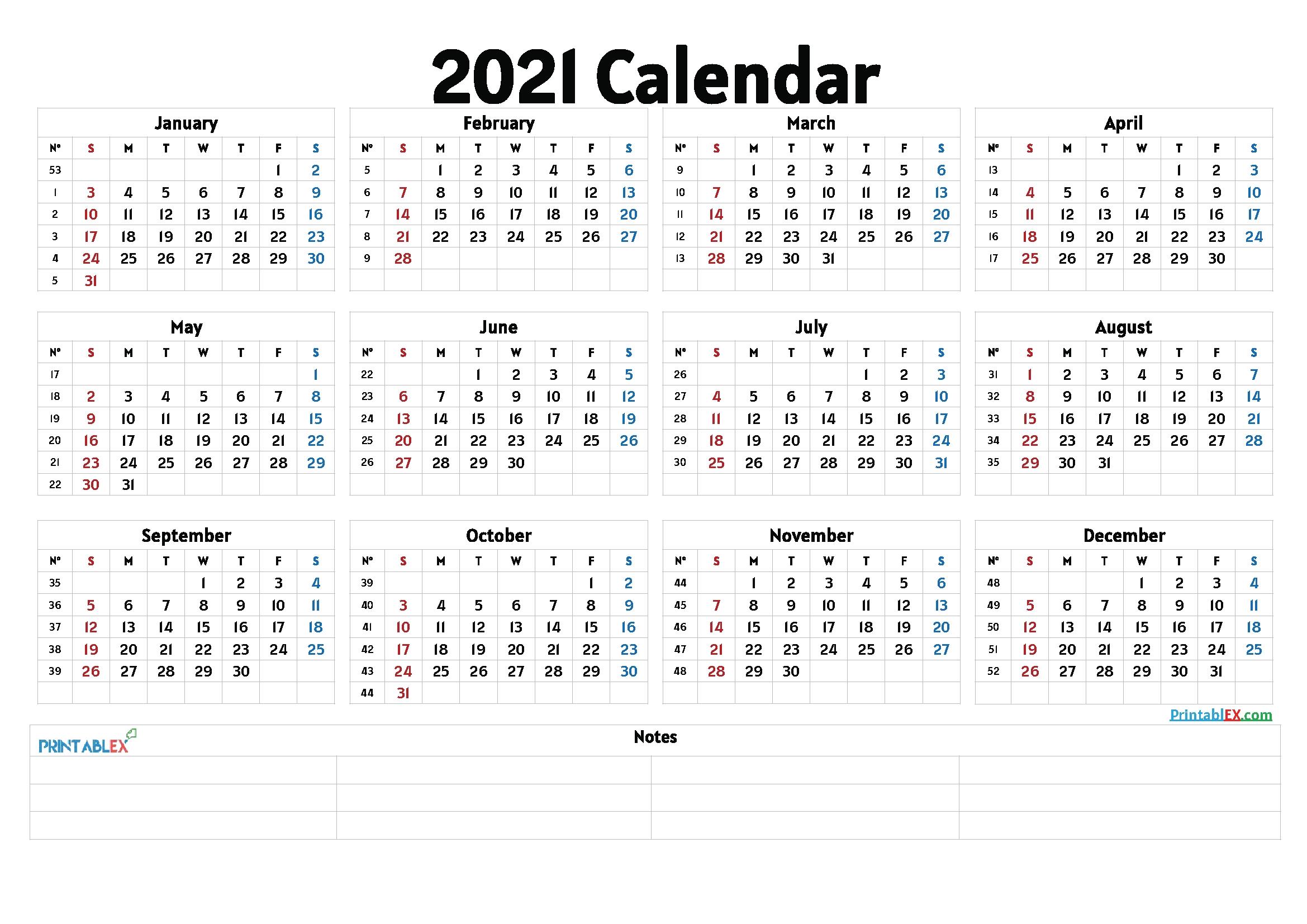 Cute 2021 Printable Blank Calendars / April 2021 Calendar Free Printable Monthly Calendars