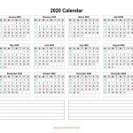 Printable Calendar With Days Numbered