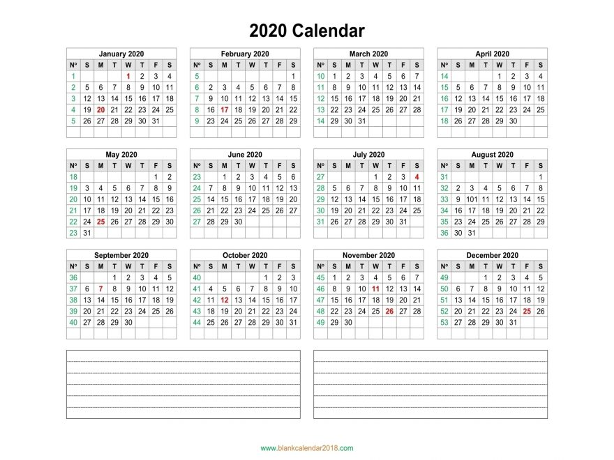 Dashing 2020 Calendar With Days Numbered • Printable Blank Calendar Template