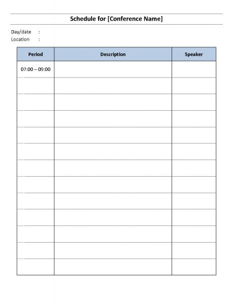 Day By Day Calendar Template | Printable Calendar Template 2020
