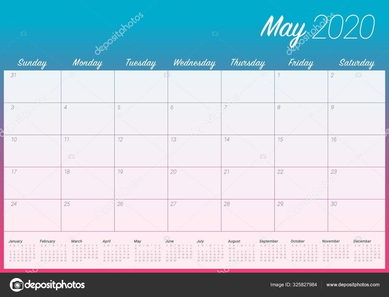 Depo 12 Week Calendar | Printable Calendar Template 2020