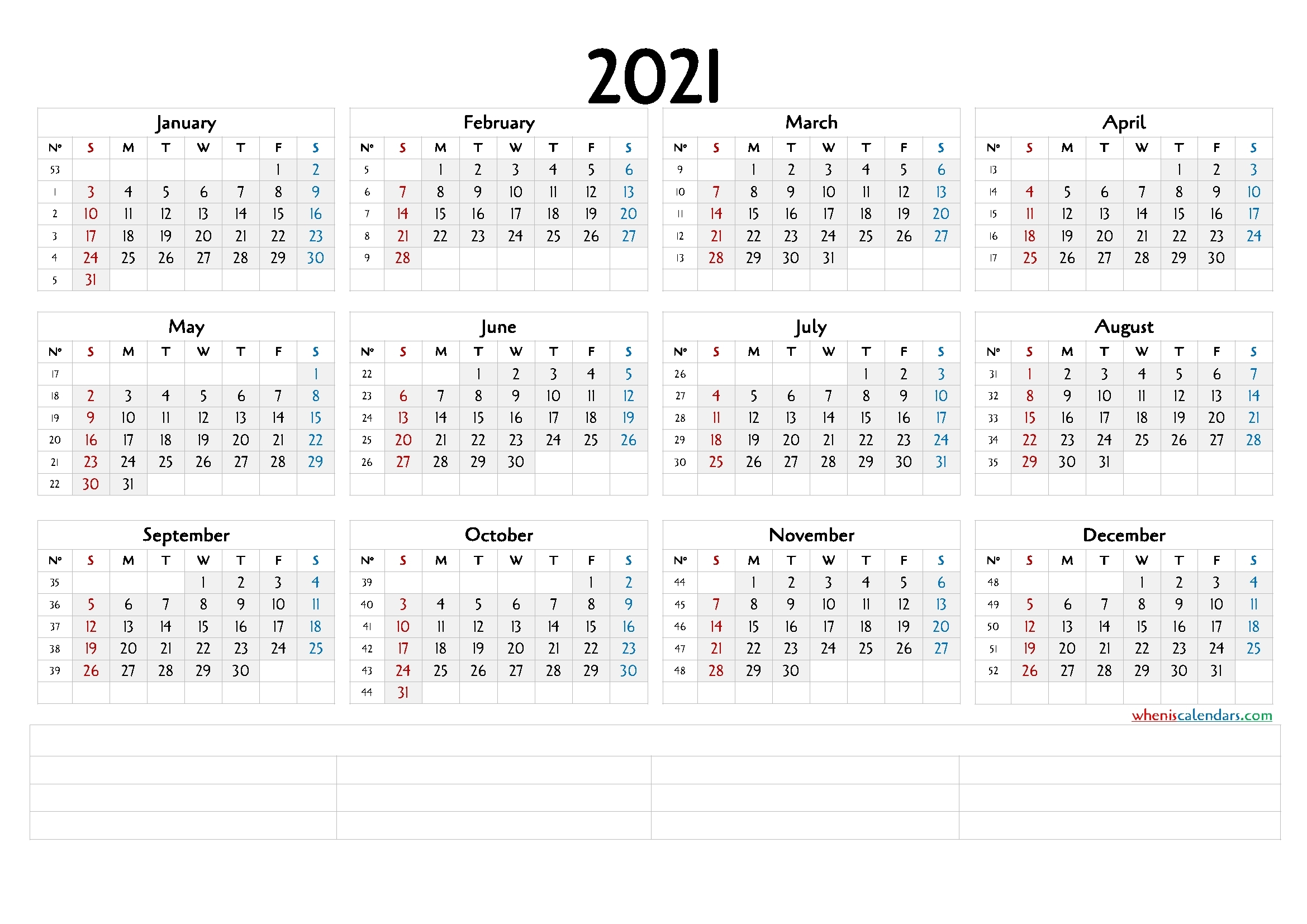 Downloadable 2021 Monthly Calendar (6 Templates) - Free 2020 And 2021 Calendar Printable Monthly