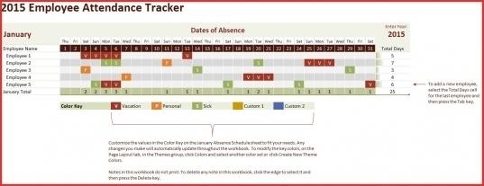 Excel Employee Attendance Calendar Template | Printable Calendar Template 2020