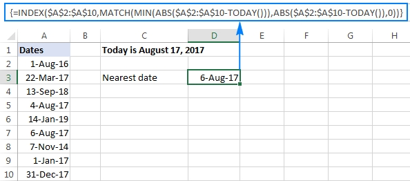 Excel Today Function To Insert Today'S Date And More