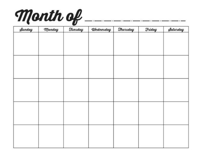 Excel Worksheet Monthly Calendar Template | Monthly Calendar Printable, Blank Monthly Calendar