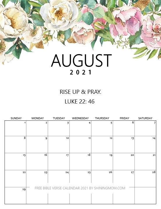 Free Bible Verse Calendar 2021 To Inspire You!