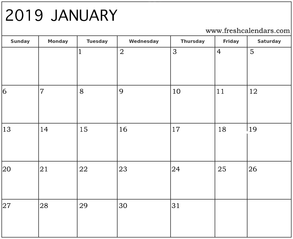 Free Blank Five Day Calandar | Printable Calendar Template 2020