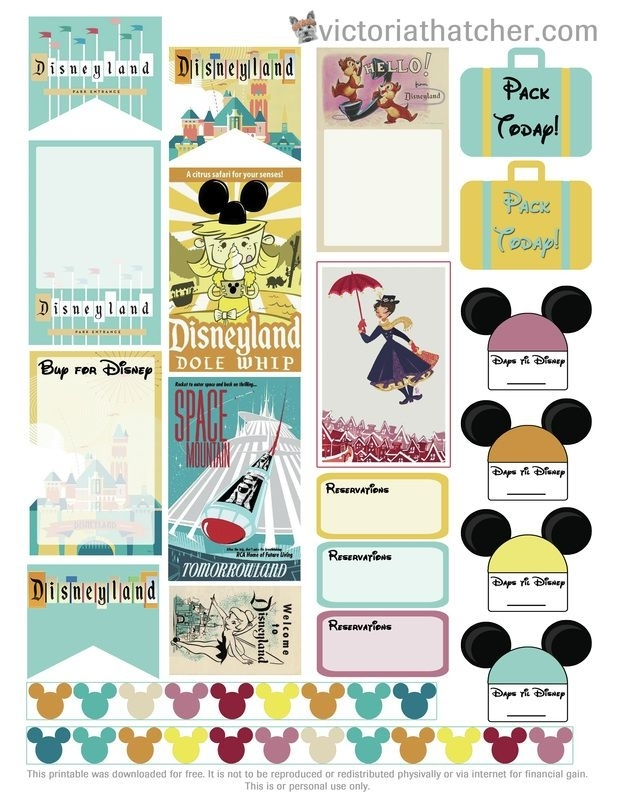 Free Disneyland Vacation Planner Printable By Victoria Thatcher | Happy Planner Printables