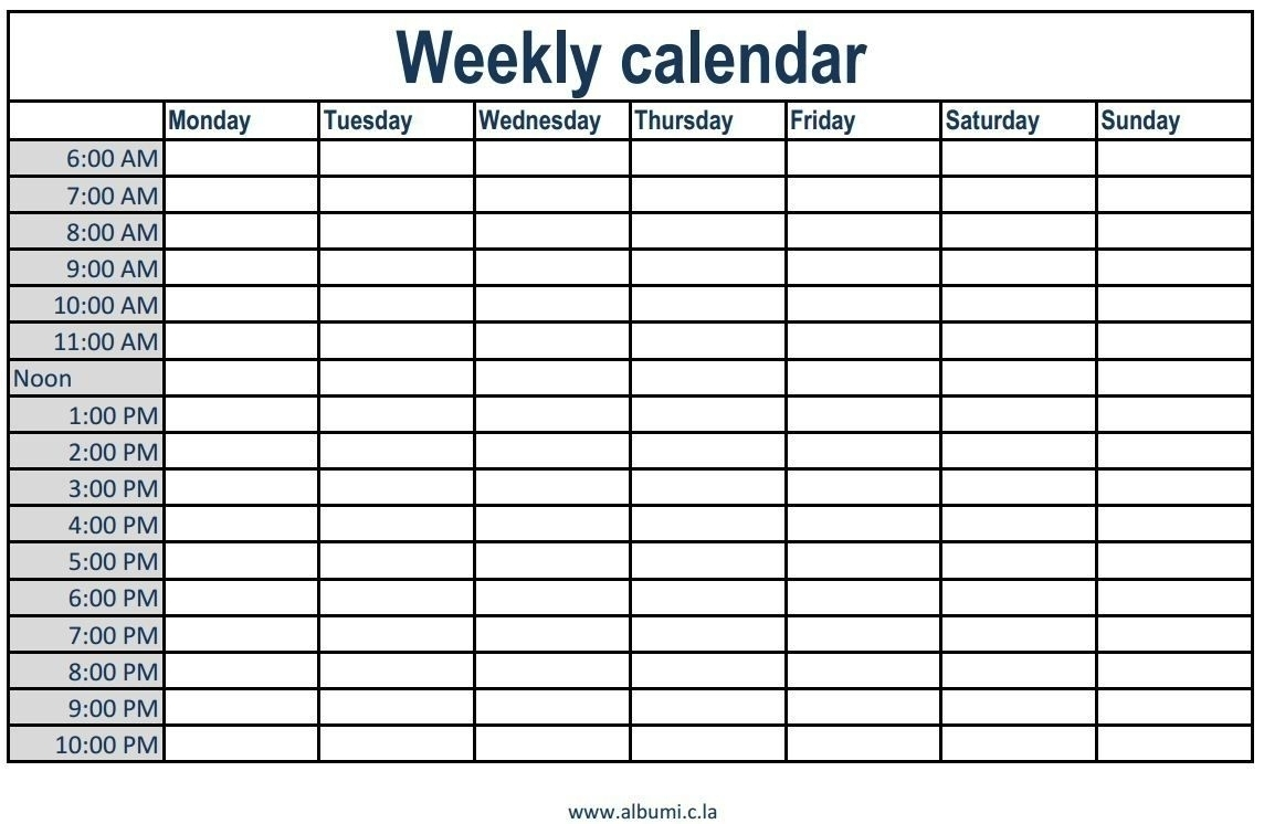 Free Printable Appointment Time Slots - Calendar Inspiration Design