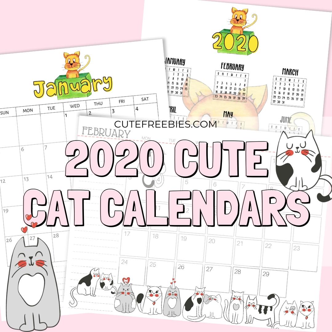 Free Printable Hello Kitty Calendar 2020 | Free Printable Calendar