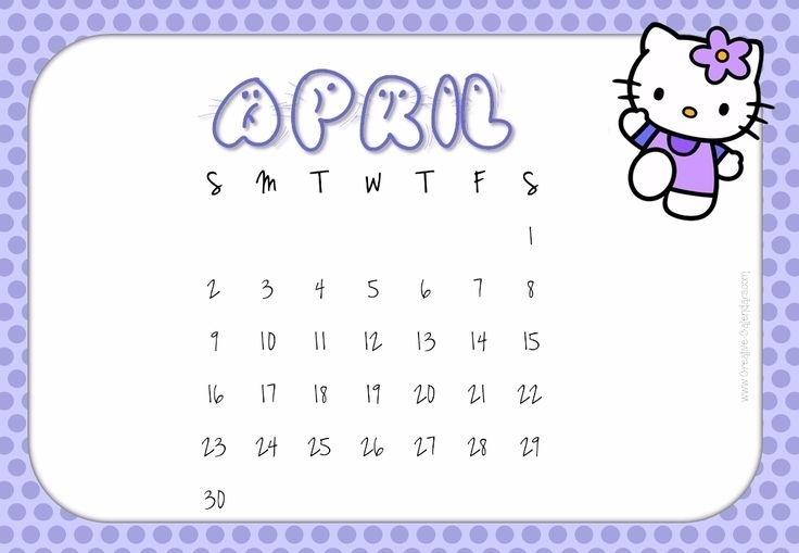 Free Printable Hello Kitty Calendars | Agendas