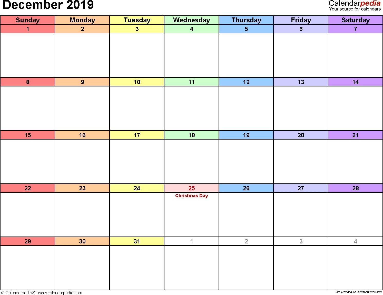 Free Printable Rainbow Calendar | Month Calendar Printable