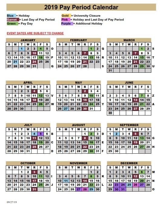 Fsu Pay Period Calendar 2020 | 2020 & 2021 Pay Periods Calendar