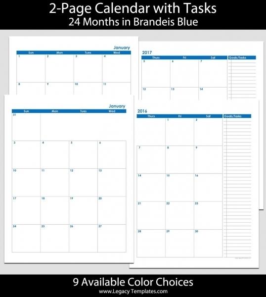 Full Size 8 12 X 11 Printable Calendar | Printable Calendar Template 2020