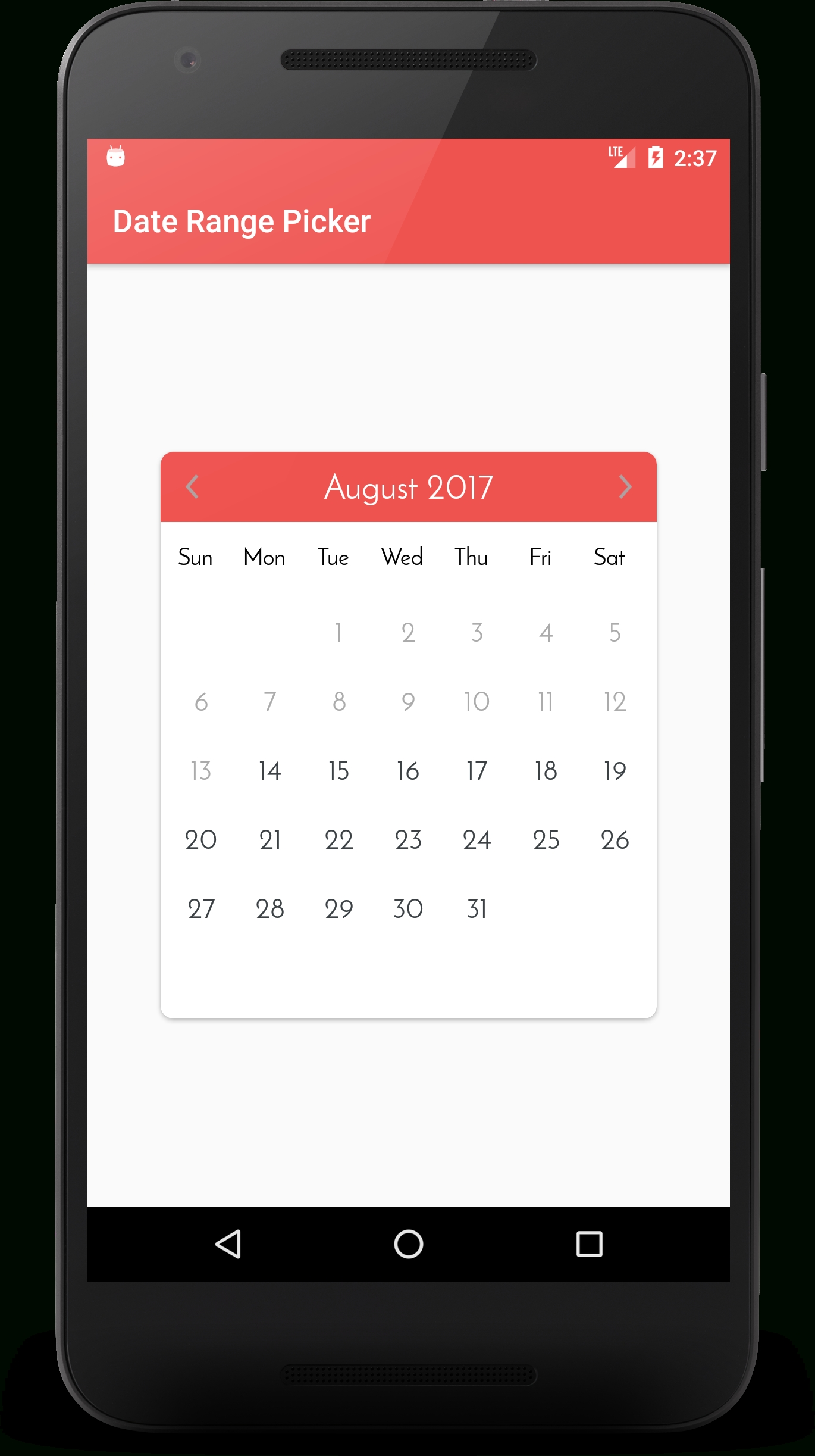 Github - Kibotu/Xamarin.awesome.calendar: An Android Library To Pick Dates Range, That Helps