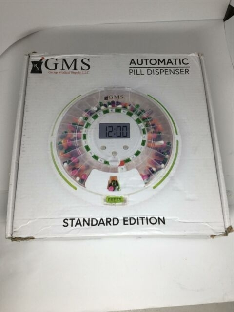 Gms 28 Day Automatic Pill Dispenser Dosage Reminder For Up To 6 Alarms A Day | Ebay