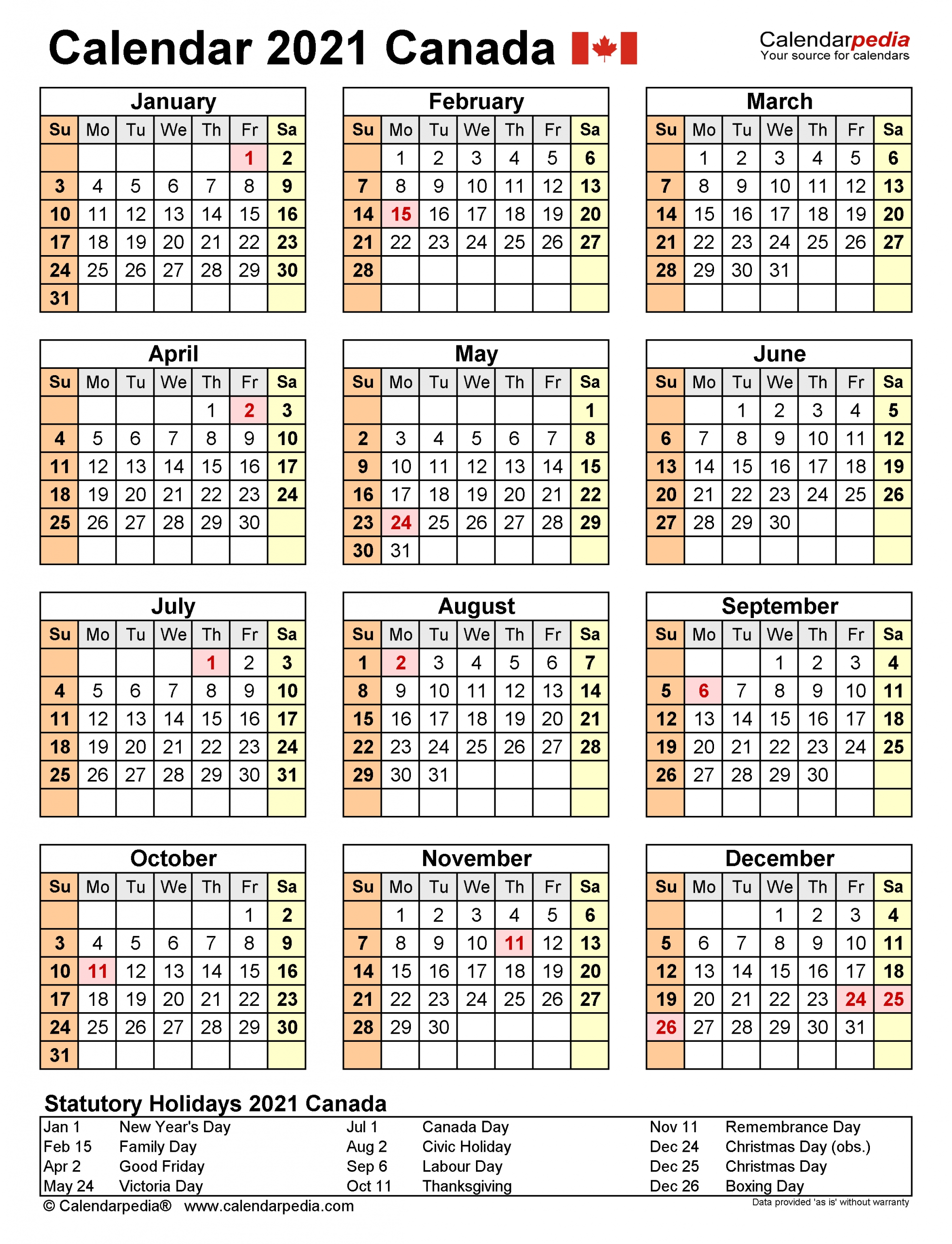 Government Of Canada 2021 Calendar | 2021 Calendar