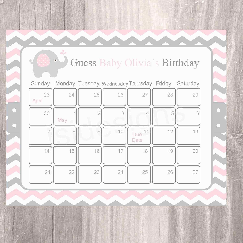 Guess The Due Date Calendar Template February 2020 | Calendar Template 2020